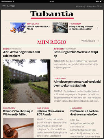 Tubantia nieuws voor iPad