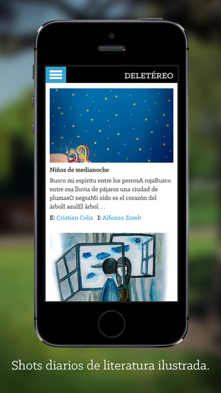 Deletéreo: illustrated literature shots in spanish