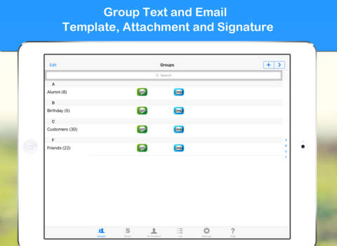 Smart Group Text & Email Screenshots