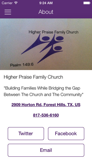 Higher Praise Family Church for iPhone