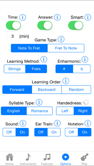 Ukulele Fretboard Addict iPhone Screenshot 5