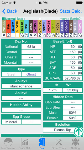 IV Checker And Data for Pokemon XY