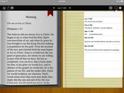 Spurgeon Devotional iPad Screenshot 2