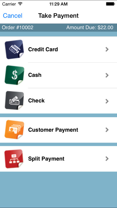 USAePay Point of Sale Credit Card Payment System iPhone Screenshot 2