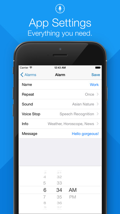 WakeVoice - Alarm clock with speech recognition Screenshots