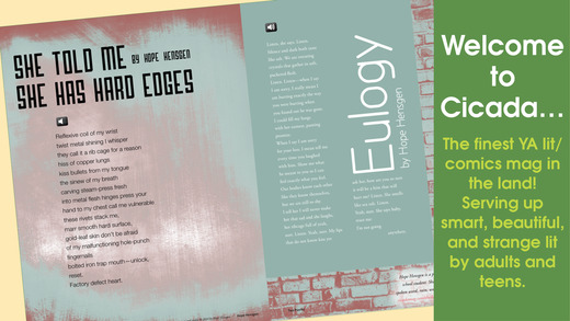 Cicada Magazine: stories and poetry written by and for teens and young adults