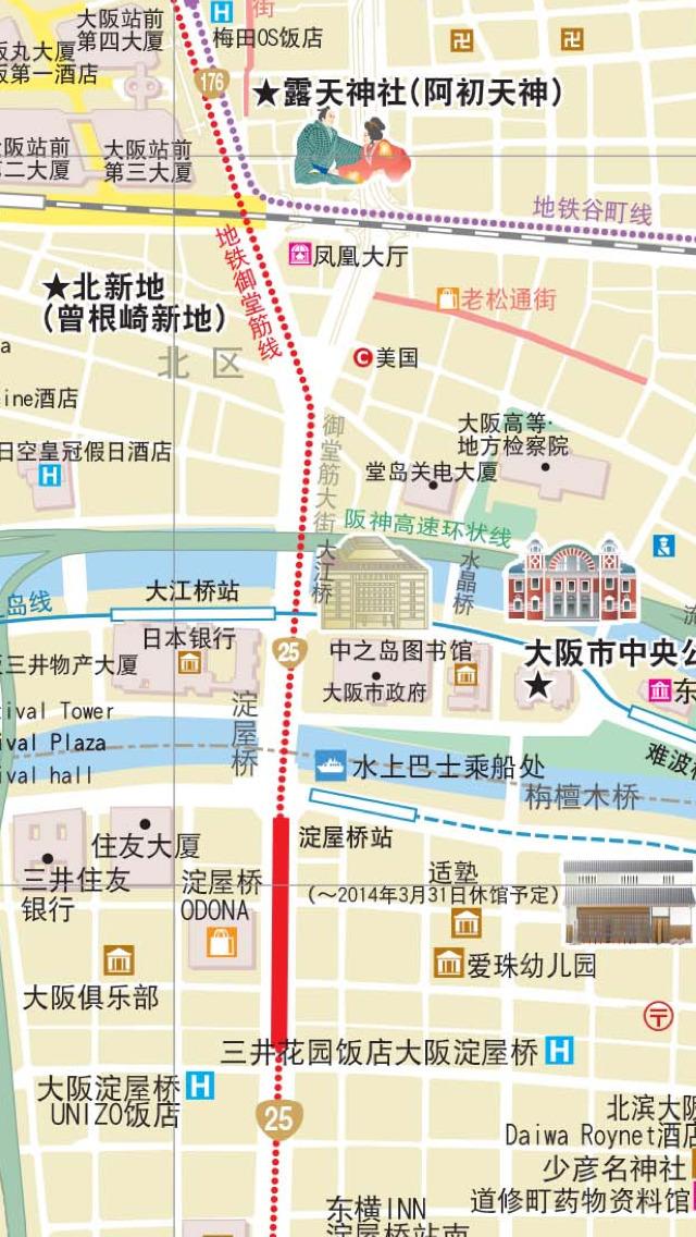 大阪旅游景点分布地图图片
