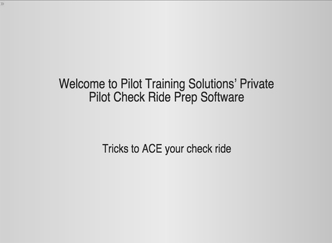 Private Pilot Check Ride Prep