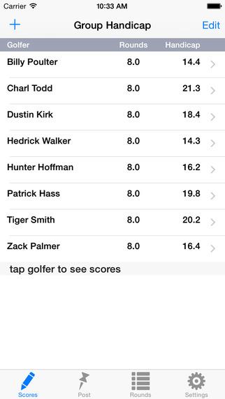 Golf Handicap Tracker - Group League US Canada Australia