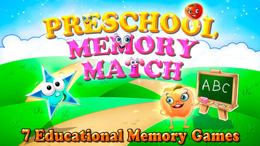 Preschool Memory Match and Learn : 7 in 1 Educational Matching Games for Kids HD