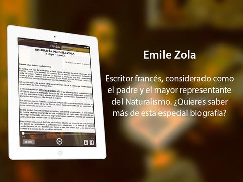 Emile Zola iPad Screenshot 2
