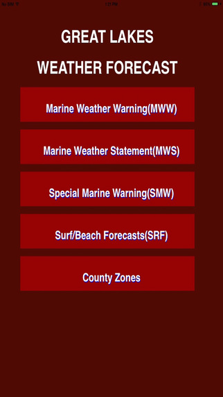 Great Lakes Nearshore USA Weather forecast