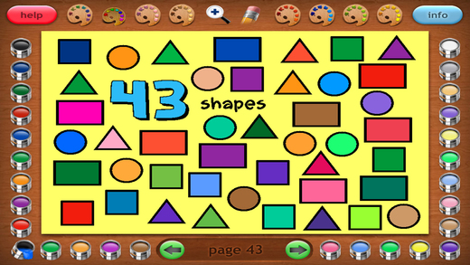Coloring Book 23: Counting Shapes
