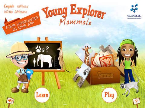 Sasol Young Explorer Mammals