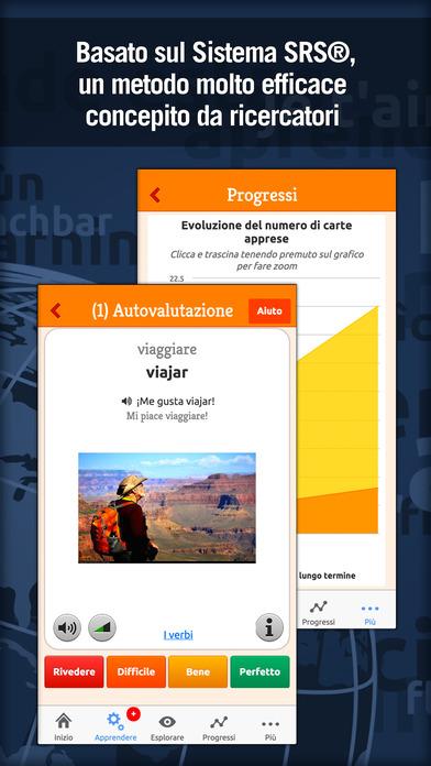 MosaLingua Spagnolo : Imparare e Memorizzare lo Spagnolo rapidamente (Italiano ► Spagnolo) iPhone Screenshot 2