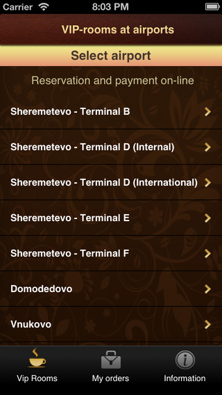 Vip-Rooms - airports Vnukovo Domodedovo SVO