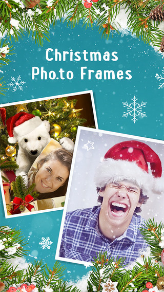 Merry Christmas Photo Collage Card Maker