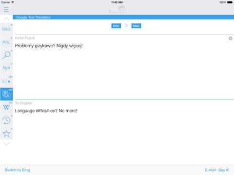 Polish English Dictionary & Translator iPad Screenshot 3