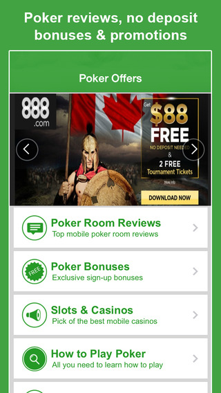 Poker Offers - FREE No Deposit Bonus Code for the Best Mobile Online Texas Holdem Sites