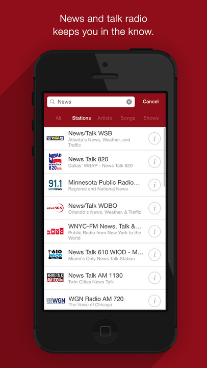 iHeartRadio – Free Streaming Music & Internet AM/FM Radio Stations - iPhone Mobile Analytics and App Store Data
