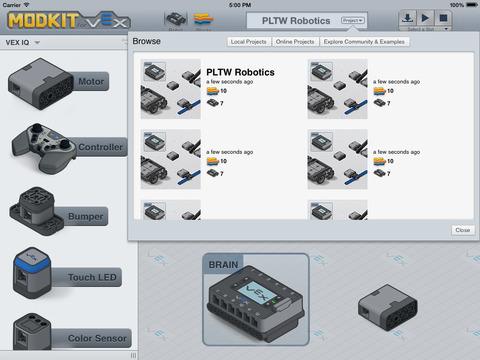 PLTW Launch Robotics Software