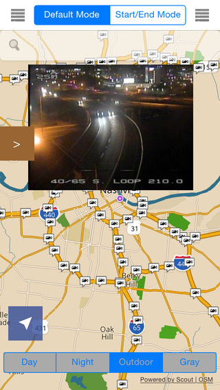 Tennessee Offline Map Navigation POI Travel Guide Wikipedia with Traffic Cameras Pro