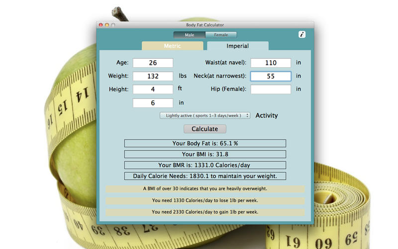 Body Fat Calculator Screenshot - 2