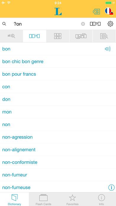 French <-> German Talking Dictionary Langenscheidt Basic iPhone Screenshot 4