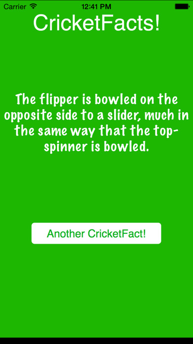CricketFacts iPhone Screenshot 2