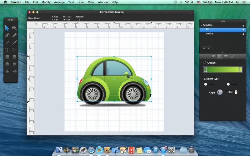 Bluetail for Mac 2.3 破解版 – 优秀的矢量绘图工具-爱情守望者