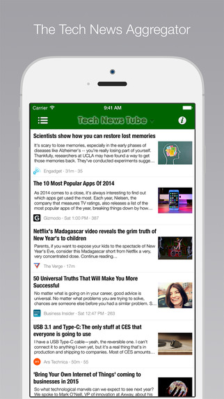 【免費新聞App】Tech News Tube-APP點子