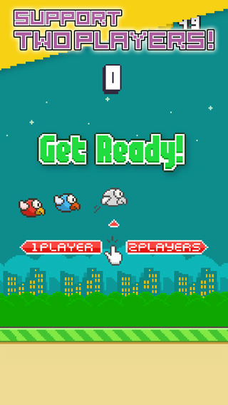 Flappy Parrot - Tiny Bird Resurrection after fall or smash and 2 Players support
