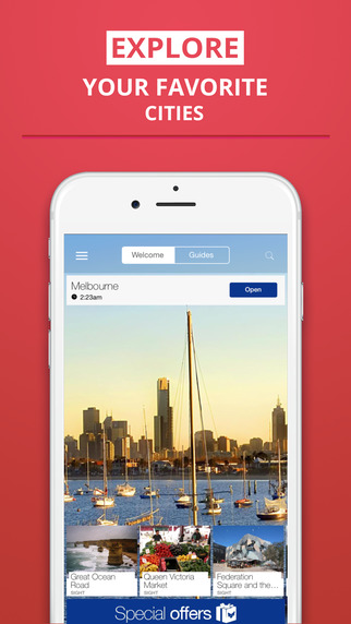 Melbourne - your travel guide with offline maps from tripwolf guide for sights restaurants and hotel