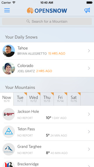 OpenSnow Ski Forecasts Reports
