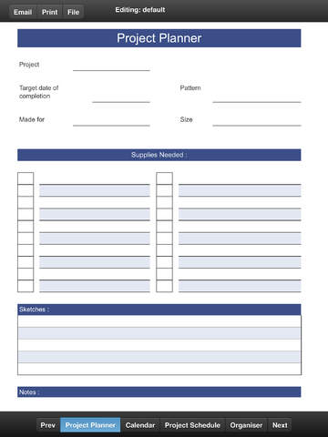 Projects Planner