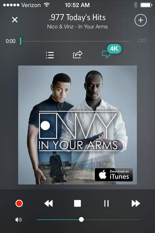TuneIn Radio Pro app screenshot