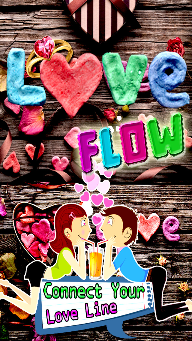 A lovely Valentine flow free brain puzzle game:Connect your love line