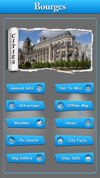 Bourges Offline Map Travel Explorer