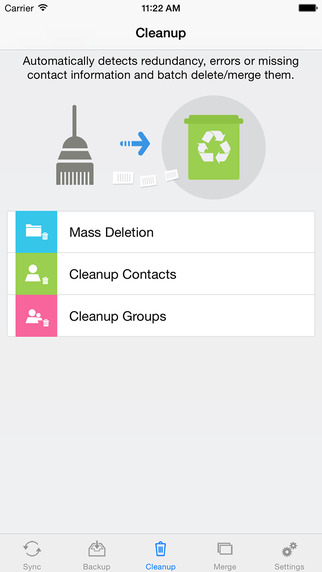 Contacts Sync, Backup & Clean Pro for Google Gmail Screenshots