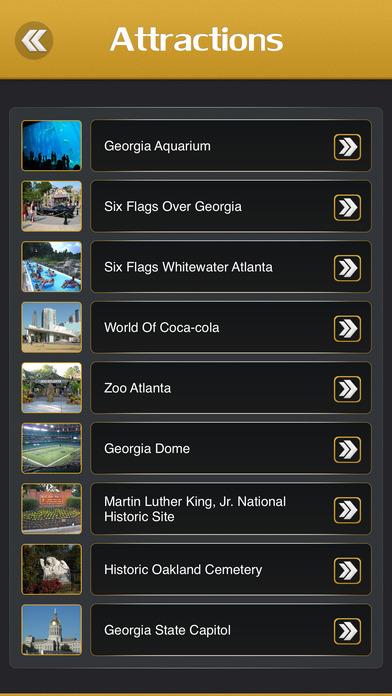 Atlanta Guide iPhone Screenshot 3