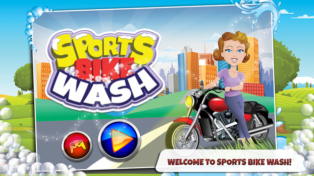 Sports Bike Wash – Repair cleanup motorcycle in this spa salon game for kids