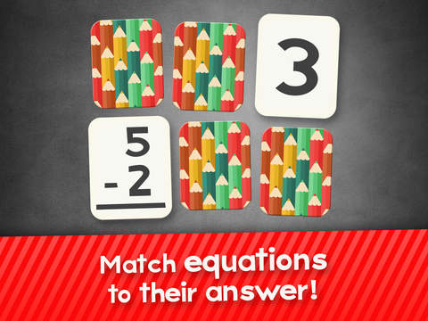 Subtraction Flashcard Match Games for Kids in Kindergarten, 1st and 2nd Grade Screenshots