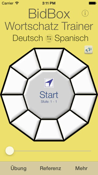 Vocabulary Trainer: German - Spanish iPhone Screenshot 1