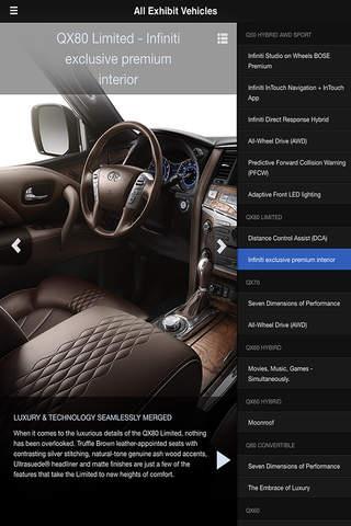 Infiniti - Edmonton Motor Show for iPhone screenshot 2