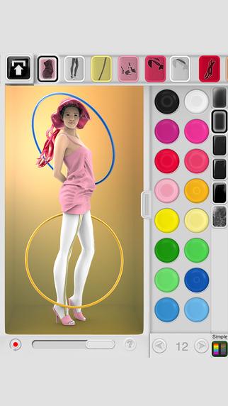 Figuromo Artist : Hula Hoop - 3D Color combine and Design Sculpture
