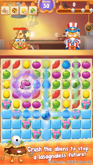 Garfield Chef: Match 3 Puzzle ~ Food Jewels and Gems Have Fun Cooking With Friends