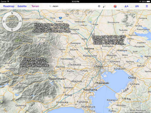 iMap Pro for Google Maps™ & Street View™ Screenshots