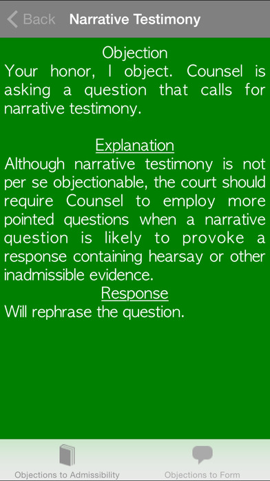 Courtroom Objections iPhone Screenshot 5