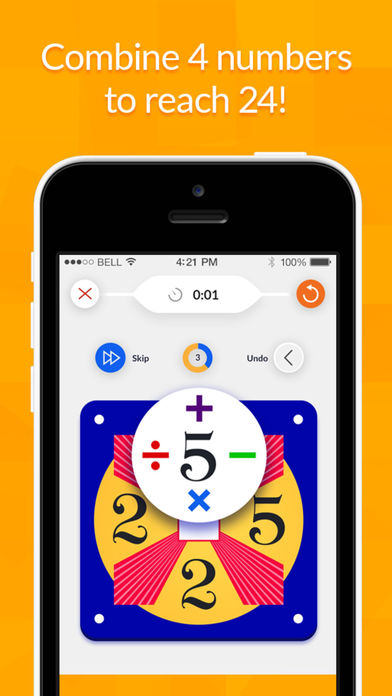 24 Game - Single Digits iPhone Screenshot 2