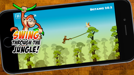 Swinging Monkey - For Kids Swing Through The Heat Of The Jungle As Far As The Baboon Can